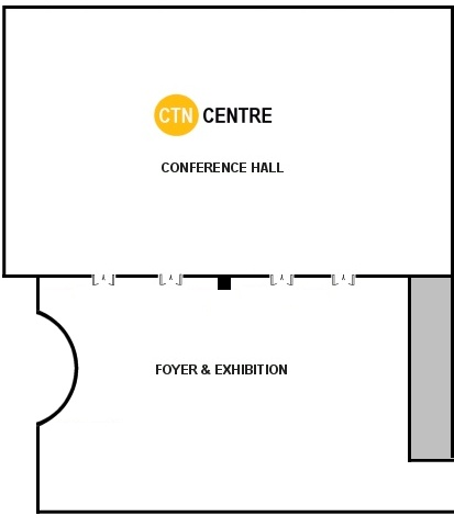 Flat plan of the exhibition area